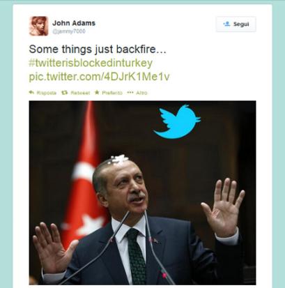 Erdogan blocca Twitter e l'ironia si fa strada sul web